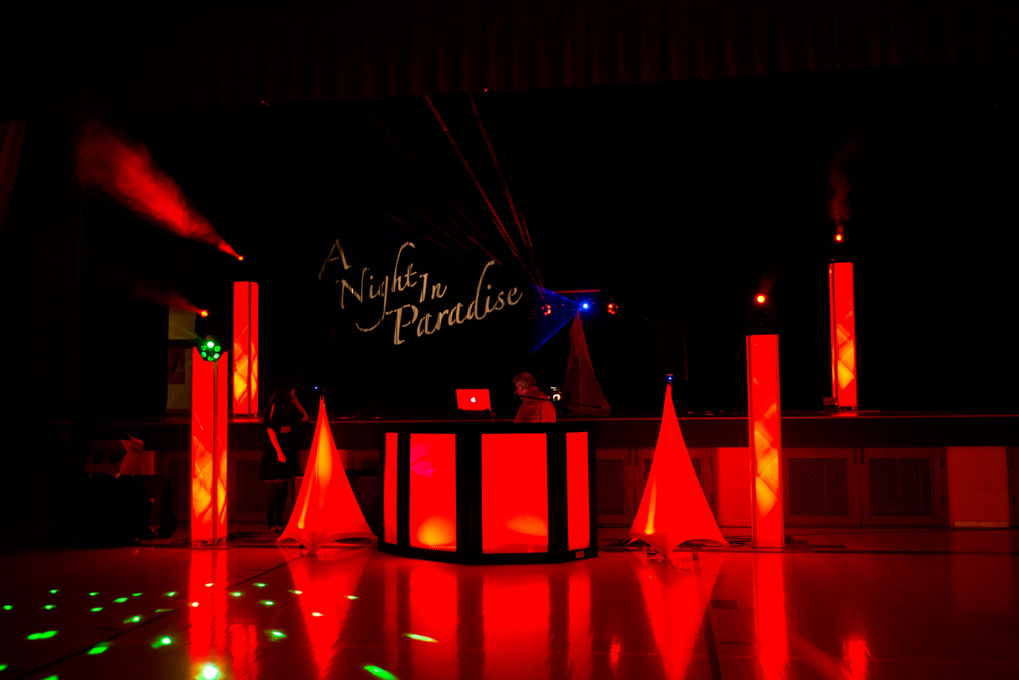 Custom Lighting Theme - Party Hits Music and Light Show - Wisconsin DJ Dance Weddings Events